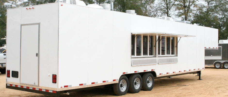 Large White Trailer